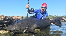 Momento da Pesca - Jaú nas corredeiras do Teles Pires