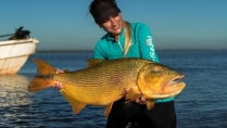 Elas na Pesca - Variada pescaria na Argentina